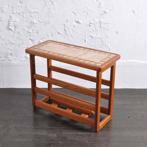 Teak Tile-Top Side Table / チーク タイルトップ サイドテーブル / 1806-0072