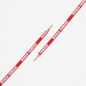 """FLAT LACES SOLID """"WORLD FAMOUS/RED"""""""