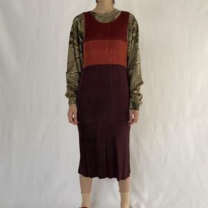 im product | pleats sleeve less dress (V4936A)