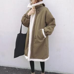 【アウター】裏起毛無地折り襟ファッション ダウンコート