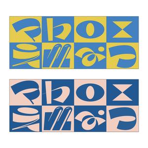 チェッカーロゴのタオル