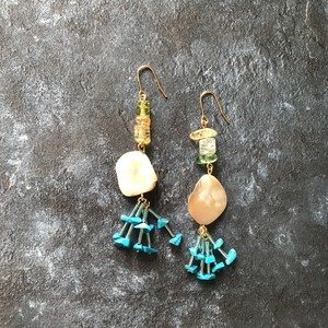 pierce or earring / MIX-turquoise