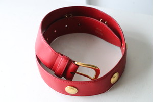 GUCCI concho red belt
