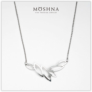 【MOSHNA:モシュナ】SILVER NECKLACE TEA LEAVES