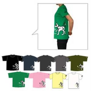 ラップTシャツ [犬] 【メンズSサイズ】Dog Wrap T-shirt [S Size]