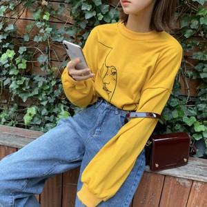【即納♡】レトロカジュアルプリントTシャツ 6915