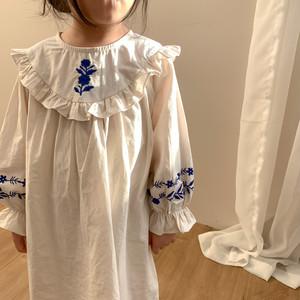 【先行予約・一部即納】flower 刺繍 ワンピース ドレス 子供服 春 SS