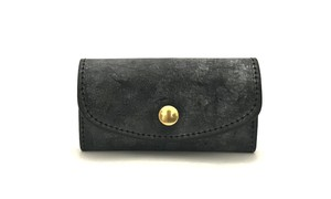 RE.ACT Bridle Leather Key Case Black