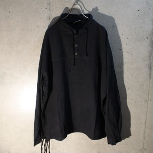 Cotton High-Neckes Pullover Shirt