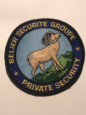 "Patch""BELIER SECURITE GROUPE"""