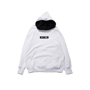 M+ne MAGIC TAPE HOODIE / WHITE
