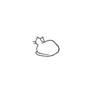 猫の尻 Backside of a cat