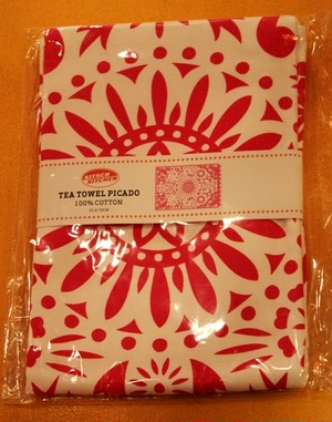 TEA TOWEL PICADO pink