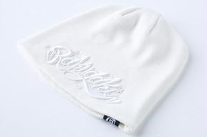 RAKUGAKI Main logo Knit Cap White