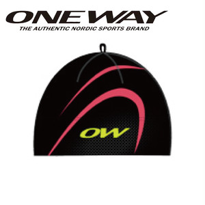 ONE WAY ワンウェイ キャップ ミアフルミン レーシングハット ブラック/ピンク スキー クロスカントリー ow715113-996