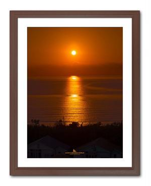 SUNSET ON THE IWAI COAST(岩井海岸の夕陽)縦バージョン