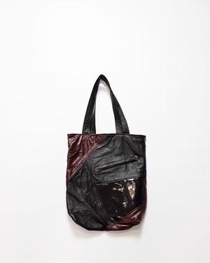 leather tote bag (red)
