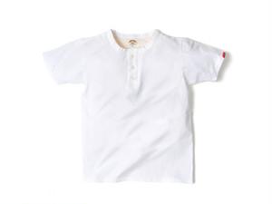 スマートスパイス・日本製 ヘンリーネック Tシャツ ホワイト