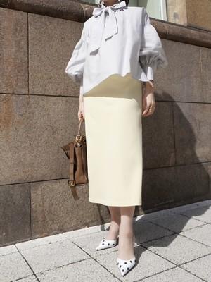 【予約】strech color skirt / lemon yellow (5月上旬発送予定)