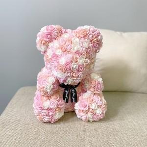 ローズベア マーブル ライトピンク お祝い 誕生日 周年