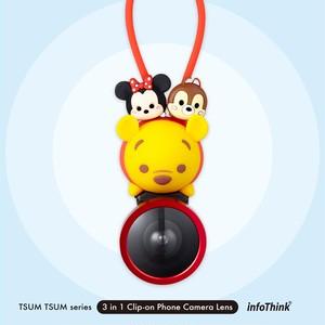 InfoThink Disney TSUM TSUM ツムツム 3 in 1 Clip-on スマホカメラレンズ iCamLens-100 (Winnie)