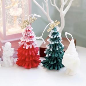 Christmas tree candle D 2colors / クリスマスツリー ハンドメイド アロマ キャンドル オブジェ 韓国 雑貨