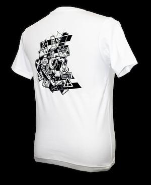 アクオレバックプリントTシャツ