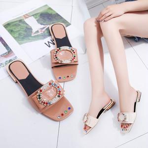 【sandal】Fashion 2018 new summer  flat bottom lightweight casual open toe sandal