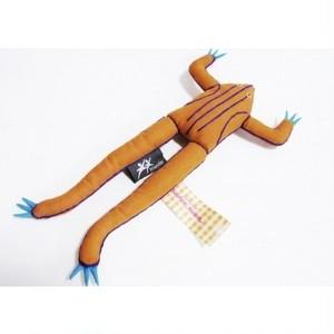 アジアのカエル人形 ラオスアースオレンジ  118FMK20F-ao-c1611