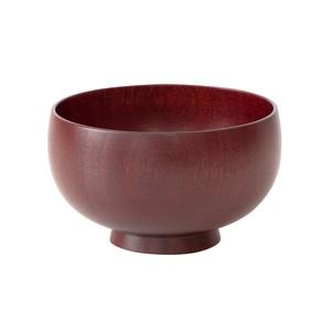 山中漆器 白鷺木工 汁椀 しらさぎ椀 S 約10cm さくら 漆赤  380208