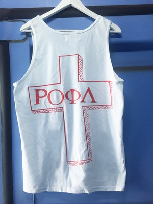 CROSS TANKTOP WHITE