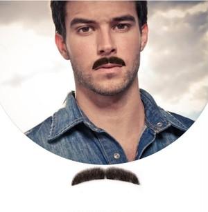 付け髭 No.6 人毛100% 髪製髭 ウィッグ 職人手作り品です。