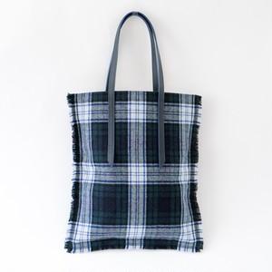Flat Tote Bag /Green×Navy