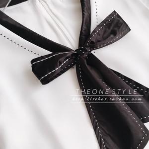 3colorブラックリボンワンピース