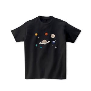宇宙Tシャツ-太陽系(黒)