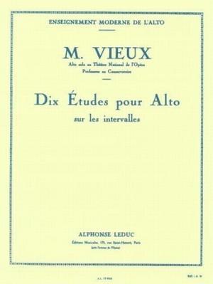 ヴュー:音程のための10の練習 / ヴィオラ