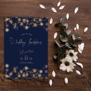 IV01【セミオーダー】結婚式 招待状