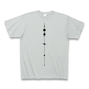 【天文学】太陽系Tシャツ(SolarSystem/Grey)