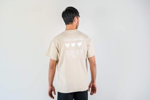 【7/8(wed)21:00販売開始】Three Heart S/S TEE (beige)