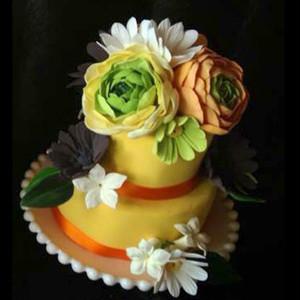 ラナンキュラスのフラワーケーキ