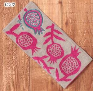 【MiW style】ポーチタオルハンカチ マゼンダの花【ピンク】 *ネコポス対応*