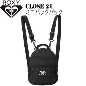 RBG204304 ロキシー 新作 ミニ バックパック リュック レディース 通販 人気 旅行 ブランド 可愛い プレゼント ギフト ブラック 黒 コンパクト 小さめ (2L) CLOSE 2 U  ROXY