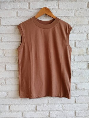 [Luv our days] Swiss Cotton No Sleeve T (CAMEL BROWN)  / LV-CT9229