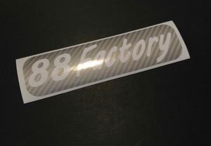 88Factory Shopデカール 抜き文字 シルバーカーボンカラー