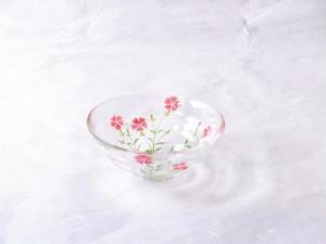 日本製 こてまり 撫子(なでしこ)耐熱ガラス 抹茶碗