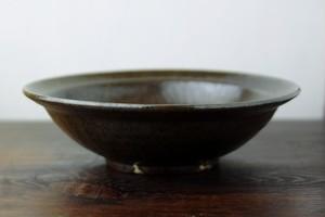 鉄釉7寸カレー皿