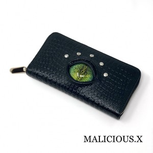 reptiles eye long wallet / green(crocodile)