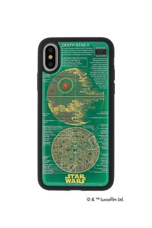 FLASH DEATH STAR 基板アート iPhoneX/XSケース  緑【東京回路線図ピンズをプレゼント】