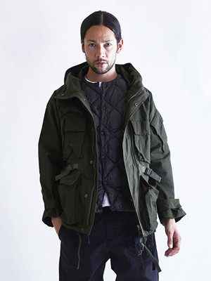 EGO TRIPPING (エゴトリッピング) FISHING HOODED COAT / OLIVE 613314-64