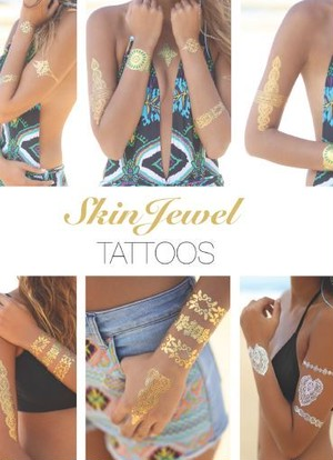 Skin Jewel TATTOOS Blue Lagoon タトゥーシール